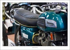 Triumph Trident T150 (G. Postlethwaite esq.) Tags: canon40d canonefs60mmmacro dof nationalmotorcyclemuseum t150 thedailypost triumphtrident beyondbokeh bokeh depthoffield motorcyle photoborder primelens selectivefocus