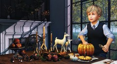 Be enthusiastic till it thrills you.  Display it, radiate it, till it infects all those around you. (Skippy Beresford) Tags: boy child childhood children kids pumpkin pumpkins autumn fall dining table home hearth enthusiasm excitement carving light love