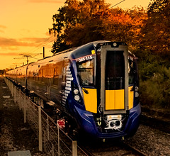 385115 Scot Rail_IMG_2055 (Jonathan Irwin Photography) Tags: slightly blurred due low light fact i was travelling 142 time 385115 scotrail setting sun hitachis test track heighington
