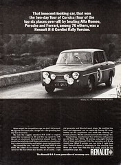 1965 Renault R-8 Gordini Rally Special Sedan USA Original Magazine Advertisement (Darren Marlow) Tags: 1 5 6 8 9 19 65 1965 r renault r8 g gordini rally special s sedan c car cool collectible collectors classic a automobile v vehicle f french france e europe european 60s