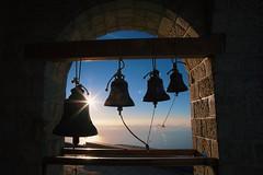 Bells on the Holy Mountain (Alessio Vincenzo Liquori) Tags: bell bells sunrise spirituality orthodox orthodoxy greece athos church monastery mountain hiking light backlit height peak summit top