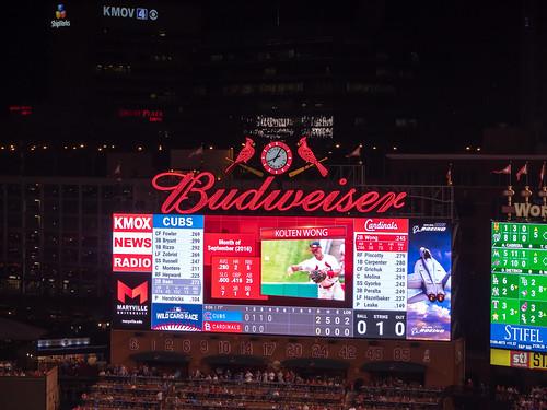 Busch Stadium Scoreboard