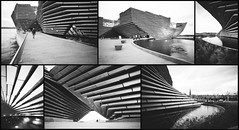 Timeless (Chris B70D) Tags: va dundee architecture architect scotland design gallery building kengo kuma contemporary concrete contrast black white grain texture film develop canon a1 35mm slr retro modern classic future timeless architectural iconic master form sculpture light shadow shape sublime chris berridge photography composite collage set setting context