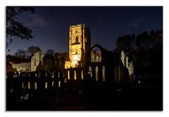 A nights walk at Fountains Abbey. C (johnhjic) Tags: johnhjic nikon d850 northyorkshire floodlight walk night fountains abbey stars star
