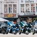 Motorcycles in Vrijdagmarkt - Ghent