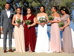 The Bride with Bridesmaids (dimaruss34) Tags: newyork brooklyn dmitriyfomenko sky greece antiparos bride bridesmaids trees flowers