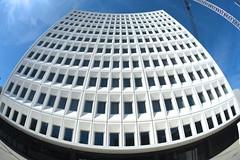 Distorted distortion (Kiwi Jono) Tags: curved fisheye architecture christchurch square pentax pentaxk1