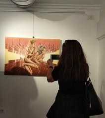 My Art Exhibition in Rome, Italy (Palazzo Velli Expo) (fabiusmen) Tags: art artist arte artwork award artista artiste artistic event exhibition exposition europe expo exposure vernissage italy italian italia rome roma roman drawing draw premio