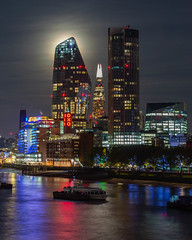 The Shard (Sam Codrington) Tags: night riverthames theshard london river 1blackfriars moonlight oxobuilding architecture moon nightphotography thethames places oneblackfriars england unitedkingdom gb harvestmoon