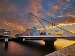 Low Liffey Light (Doug.King) Tags: bridge sunrise river sky color colour samuelbeckett dublin ireland water