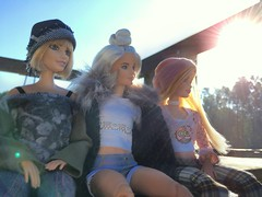 Forest Friends. (dolldudemeow24) Tags: barbie fashionistas number 22 chambray chic 23 love that lace 2016 63 platinum pop 2017 doll dolls model models fall autumn fashion collcection pier wood park forest lake water relaxing sunny sunlight morning friends blue sky 2018