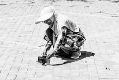 A shot with style (A. Yousuf Kurniawan) Tags: photographer people woman blackandwhite monochrome borneo banjarbaru kalimantan decisivemoment streetphotography urbanlife hdr minimalism minimalist