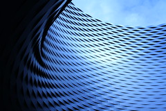 Iron wave (Franck.Robinet) Tags: architecture pov dof sky building curves blue city cityscape iron wave courbe curvy