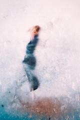 The dance of life (Ans van de Sluis) Tags: ansvandesluis august blue blur dress female feminine highkey indoors lady motion movement people portrait purple selfportrait woman painterly