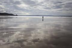 Man with No Dog (shawn~white) Tags: 35mm cymru pembrokeshire beach cloud clouds coast lowtide ocean sand sea shore â©shawnwhite wales