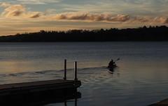 morning rituals (humbletree) Tags: wingrapark lakewingra madisonwisconsin autumn october morninglight kayak pier