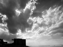 Pumping Station (mswan777) Tags: mobile iphone iphoneography apple up white black ansel monochrome michigan stjoseph intake horizon seascape building plant water beach coast shore cloud sky