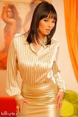 Blouse (Ten Million Smurfs) Tags: blouse blousefetish blouses sexy shirt satin