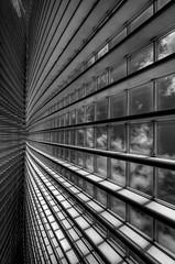 _TPC9814 (Tom Putzke) Tags: architektur städte calatrava lüttich luik bahnhof monochrom monochrome schwarz weiss wolken clouds stahl steel glas guillemins tgv fenster window hdr geometrisch linien flächen fassade fassaden oberfläche symetrie