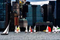 Sail NY (JBayPhotographie) Tags: ny new york sail sailboat sky skyline water jersey color