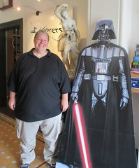 Lord Vader and I get reaquainted at the Torquay Museum 19.08.17 (Trevor Bruford) Tags: star wars toy figure exhibition torquay museum maythetoysbewithyou