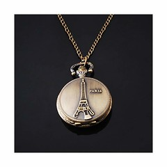 Eiffel Tower Chain Necklace Watch For All (mywowstuff) Tags: gifts gift ideas gadgets geeky products men women family home office