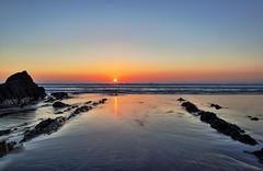 Sandymouth Sunset (Mark Wasteney) Tags: sunset sky sea seaside seascape ocean rocks beach sand sandymouth water reflections colours cornwall kernow westcountry