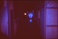 (✞bens▲n) Tags: minolta cle velvia 100 rokkor 40mm f2 film analogue slide model moka purple flash dark haikyo abandoned building
