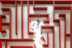 (excelAnt) Tags: captionme funny man maze escape red