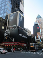 Halloween 2018 Movie Billboard 3138 (Brechtbug) Tags: halloween 2018 movie billboard horror film billboards nyc 10202018 new york city michael myers jamie lee curtis judith john carpenters no dr samuel sam loomis doctor adventure holiday 7th ave avenue 50th st street standee monster killer knife slasher 1978 was original 40 years ago