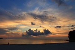 today's sunset (Kero-ppi) Tags: sea sky cloud sunset