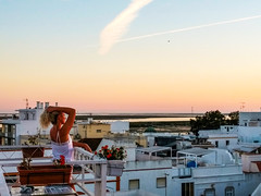 Olhão rooftop view 2 (Greenstone Girl) Tags: seaside town white villas portugal olhao algarve sunset rooftop