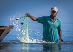 Net Fisherman, Caracol, Haiti (MikeM_1201) Tags: fishing caracol net haiti d500 water sky