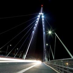 Northern Spire Sunderland (MikeOB64) Tags: bridge northern spire sunderland river wear night light trails