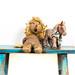 Antique, worn, stuffed animals