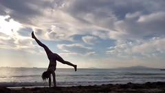 Morning flow (stankayoga) Tags: yoga morning beach sunrise burgas stankayoga stanka poweryoga advancedyoga londonyogateacher yogateacher