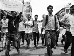 The 2018 Bangladesh Quota Reform Protests were protests demanding reforms in policies regarding   recruitment in the Bangladesh government services. The protests initially began in Shahbag and on   Dhaka University campus on 8 April 2018 , and eventually (Shahrear94) Tags: protest blackandwhite black mobileshot monochromatic monochrome concept contrast student reformquotabd rally xiaomi democracy no voice against tyranny