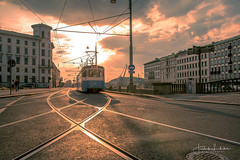 Destination Anyware (Fredrik Lindedal) Tags: tram lindedal light reflection glow city cityscape cityview gothenburg visitsweden visitgothenborg house clouds lines sweden sverige