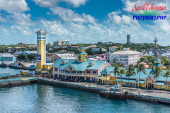 Downtown Nassau (Scottwdw) Tags: bahamas blue clouds disneycruiseline disneydream downtown nassau port ship sky tower travel tugboat vacation water verandah stateroom yellow nikond750 nikonafs24120mmf4gedvr building city boat architecture