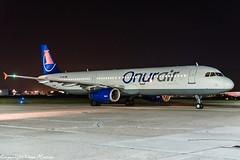 Onur Air TC-OBJ HAJ at Night (U. Heinze) Tags: aircraft airlines airways airplane nikon night planespotting plane flugzeug haj hannoverlangenhagenairporthaj eddv