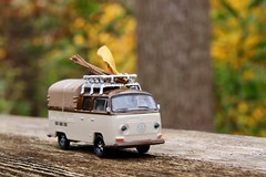 October's March ... (Haytham M.) Tags: minimal minimalism texture woods forest trees tree trail nostalgia volkswagen vw minibus leaves leaf travel voyage trip october autumn fall