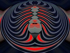 Red Mania (Kombizz) Tags: kombizz kaleidoscope experimentalart experimentalphotoart photoart epa samsung samsunggalaxy fx abstract pattern art artwork c492 red gray black darkred aghrab mania redmania