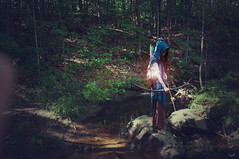 in the light (Victographe) Tags: summer forest archer bow light nature gardian aqua red river rivière hunter greenspace waterscape