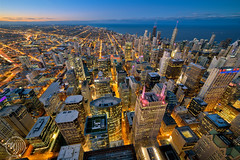 Chicago, blue hour. (Fujjii images) Tags: chicago skyscraper skyscrapercity nightphotography cityatnight nightshot cityskylines skyline longueexposition greatlongexposure longueexposure usa downtown illinois michiganlake bluehour city windycity
