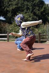 And he's off again (quinn.anya) Tags: sam kindergartener jumpingpillow jumping pose jellystonepark