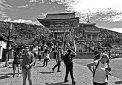 Kiyomizu Temple (tacosnachosburritos) Tags: kyoto ancient kiyomizudera tourists thestreets street photography man guy girl woman lady chick kimono turning japanese japan shops shopping road pretty beautiful lovely people asian humanity landscape