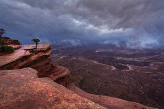 Living on the Edge. (ihikesandiego) Tags: canyonlands national park moab utah stormy green river overlook