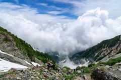 Mt.Shiroumadake (bamboo_sasa) Tags: 白馬岳 北アルプス 後立山連峰 百名山 白馬大雪渓 白馬村 長野 信州 日本 登山 shiroumadake northern alps hakuba snowy valley nagano shinshu japan mountain trekking