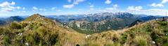 Mountain Panorama (franco nadalin) Tags: freedom adventure blue clouds hiking landscape mountains panorama peak range sky