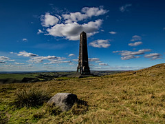 Pots and Pans 2 (Craig Hannah) Tags: saddleworth saddleworthmoor greenfield moorland uplands westriding yorkshire 2018 craighannah oldham greatermanchester england uk potsandpans uppermill warmemorial warmonument monument sky clouds